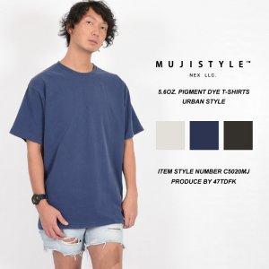 無地tシャツ メンズ ヴィンテージTシャツ ユーズドライクなピグメントダイTシャツ