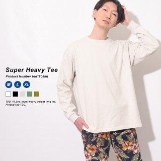 スーパーヘビーウェイトロングTシャツ 超厚手で透けにくい白Tシャツ 男性は乳首が浮かないロンT