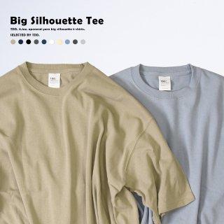 本物の厚手 ザラっとした質感のオープンエンド糸を使用 ビッグシルエットTシャツ