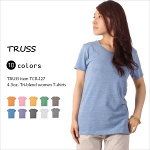 3種類の素材を混合したトライブレンド!カラバリ10色柔らかい素材の4.3オンスのTシャツ