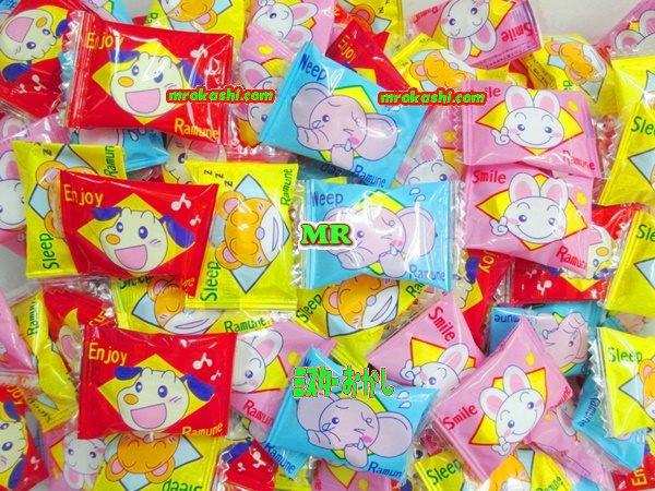 MRカクダイ製菓 2キロ【約700粒】 大粒スマイル動物ラムネ【業】×1袋 +税 【fu】