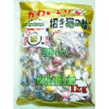 MR松屋製菓 かわいい招き猫の飴1キロ(985円)×1袋 +税