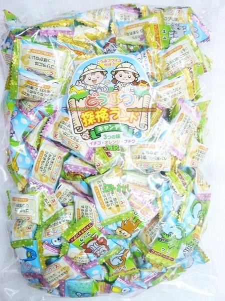 MRマルエ製菓 1kgどうぶつ探検ランドキャンディ〔799円〕×1袋 +税