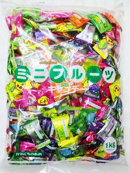 MR川口製菓 ミニフルーツキャンデー1kg〔796円〕×1袋 +税