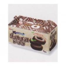 MR七尾製菓 7個ダブルチョコドーナツ〔186円〕×20個 +税 【チョコ】