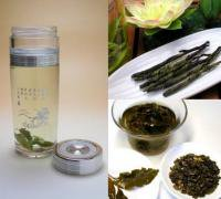 【日本全国送料無料】中国茶用携帯エコ水筒340ml+お勧め中国茶2種類
