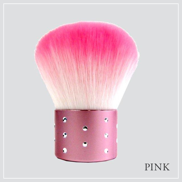 あかしや 化粧筆 カブキブラシラインストーン PINK/PURPLE