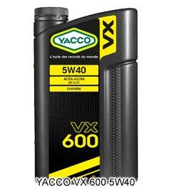 YACCO VX-600 / 5W-40 / 2L