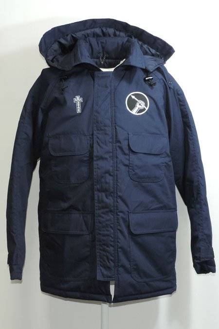 HOODED WORK COAT -Dark Navy-