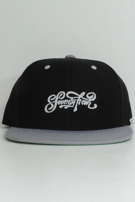 BASE BALL CAP (SCRIPT LOGO) -Black/Grey-