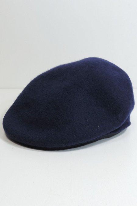 WOOL HUNTING CAP -Navy-