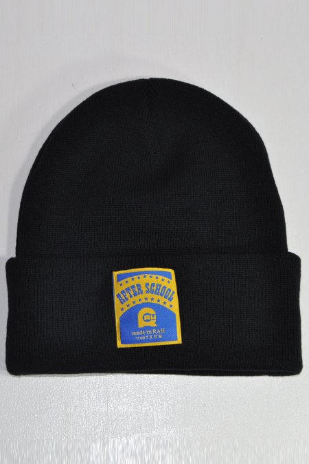 AFTER SCHOOL BEANIE -Black-
