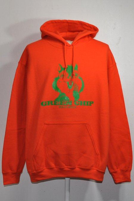 GREEN CHIP PULLOVER PARKA -Orange/Green-