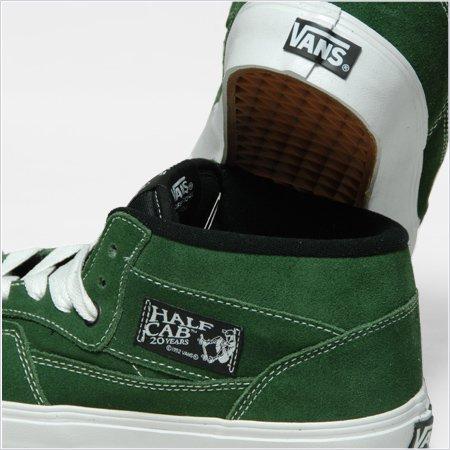 d6a4e01d7d VANS HALF CAB 20TH ANNIVERSARY -Forest Green White- - RAH YOKOHAMA
