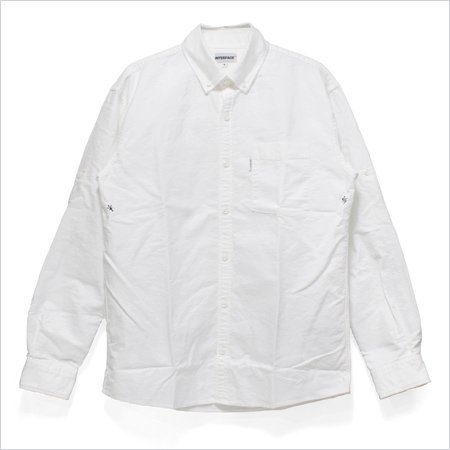 """CROSS"" OXFORD ROLL UP SHIRTS L/S  -White-"