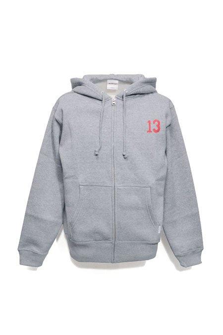 """ 13 "" 10oz ZIP PARKA  -Grey-"