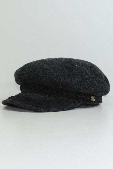 FIDDLER LTD. CAP (HARRIS TWEED) -Black/Grey-