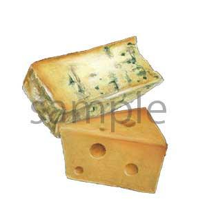 チョークアートイラスト チーズ