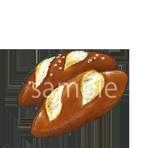 チョークアートイラスト ドイツパン