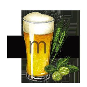 チョークアートイラスト グラスビール