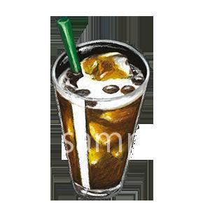 チョークアートイラスト アイスコーヒー