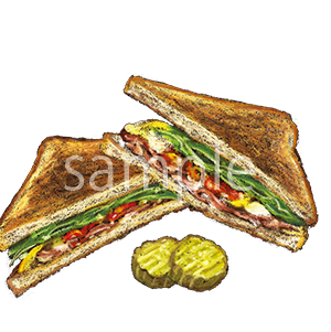 チョークアートイラスト グルメサンドイッチ