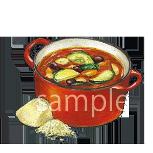 チョークアートイラスト スープ