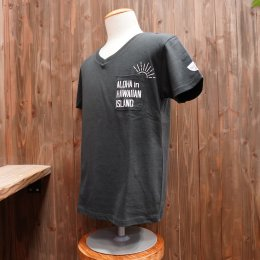 【Second Wind/セカンドウィンド】オリジナル半袖VネックTシャツ SUN ダークグレー