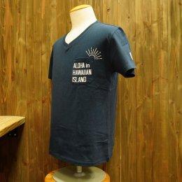 【Second Wind/セカンドウィンド】オリジナル半袖VネックTシャツ SUN ネイビー