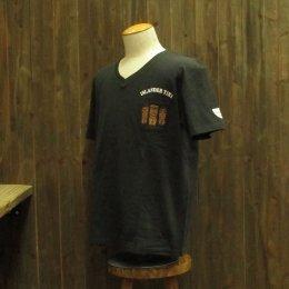 【Second Wind/セカンドウィンド】オリジナル半袖VネックTシャツ ティキ ダークグレー
