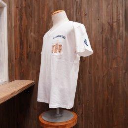 【Second Wind/セカンドウィンド】オリジナル半袖VネックTシャツ ティキ ホワイト/ナチュラル