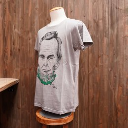 【Second Wind/セカンドウィンド】デザイナーコラボ半袖Tシャツ カイワレ モスグレー
