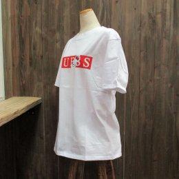 【GUESS/ゲス】ハローキティコラボ半袖Tシャツ バー ホワイト