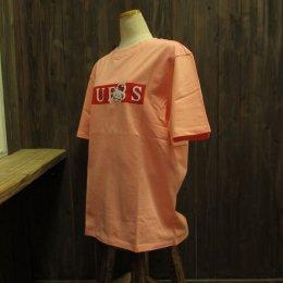 【GUESS/ゲス】ハローキティコラボ半袖Tシャツ バー ピンク