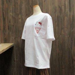 【GUESS/ゲス】ハローキティコラボ半袖Tシャツ ポケット ホワイト
