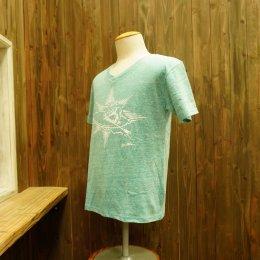 【Second Wind/セカンドウィンド】オリジナル半袖Vネック杢Tシャツ サーフボーイ グリーン
