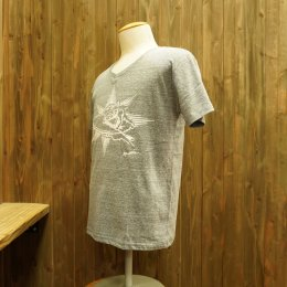 【Second Wind/セカンドウィンド】オリジナル半袖Vネック杢Tシャツ サーフボーイ ネイビー