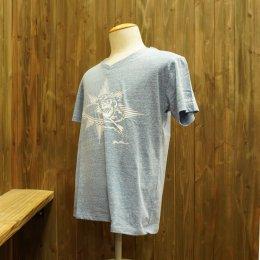 【Second Wind/セカンドウィンド】オリジナル半袖Vネック杢Tシャツ サーフボーイ ライトブルー