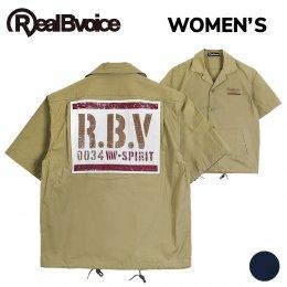 【RealBvoice/リアルビーボイス】[WOMEN'S] 0034 STENCIL TYPEWRITER SHIRT(メーカー直送)