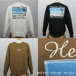【ALOHA MADE/アロハメイド】 BIG トレーナー(貼り付け刺繍)HEAVENS ISLAND