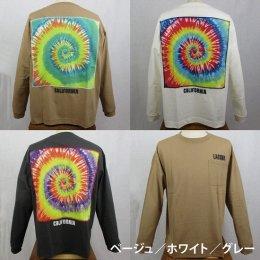 【ANTIBALLISTIC/アンティバルリスティック】 タイダイ貼り付け 長袖Tシャツ