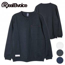【RealBvoice/リアルビーボイス】SIMPLE POCKET RIB LONG T-SHIRT(メーカー直送)