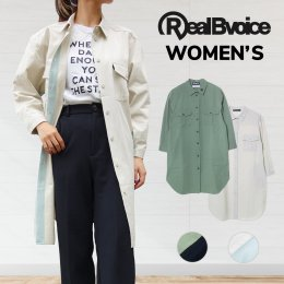 【RealBvoice/リアルビーボイス】[WOMEN'S] MADE IN JAPAN R LOGO LONG SHIRT(メーカー直送)