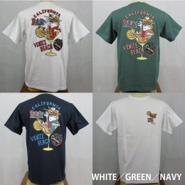 【Selected Bland】半袖Tシャツ BAR VENICE BEACH