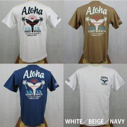 【Selected Bland】半袖Tシャツ SUNSET BEACH