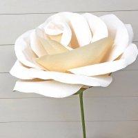ジャイアントフラワー 手作りキット フローラ ホワイト フローラ Lサイズ 花径55cm【結婚式やパーティーに!作り方 動画公開中】