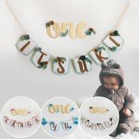【送料無料】 Oneレター(文字)プロップス お名前ガーランドセット 1歳のお誕生日パーティーの飾り付けに