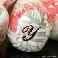ウェルカムベア 足裏刺繍(イニシャル)