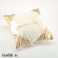 和風リングピロー 手作りキット 桜風(さくらかぜ) ゴールド 【メール便OK(送料164円)】