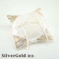 和風リングピロー 完成品 桜風(さくらかぜ) シルバー